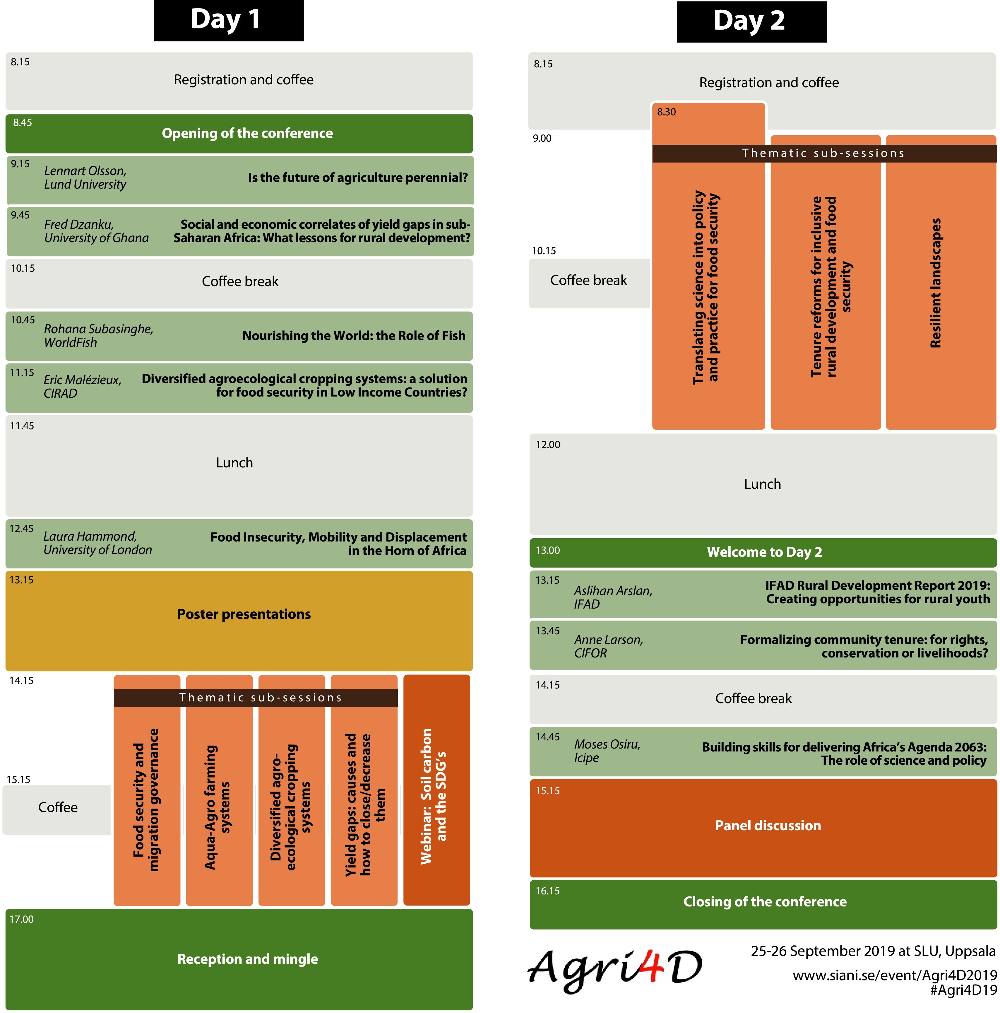 Agri4D conference program