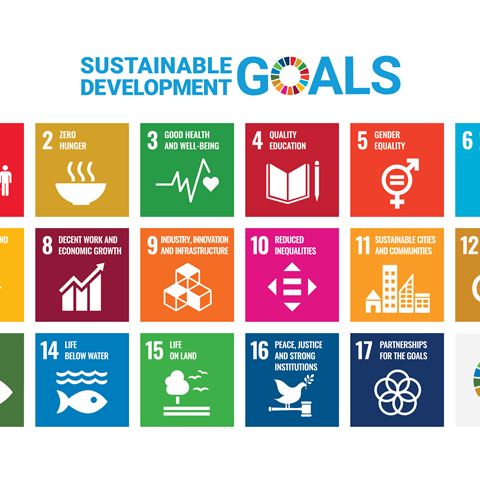 All sustainable development goals, icons.