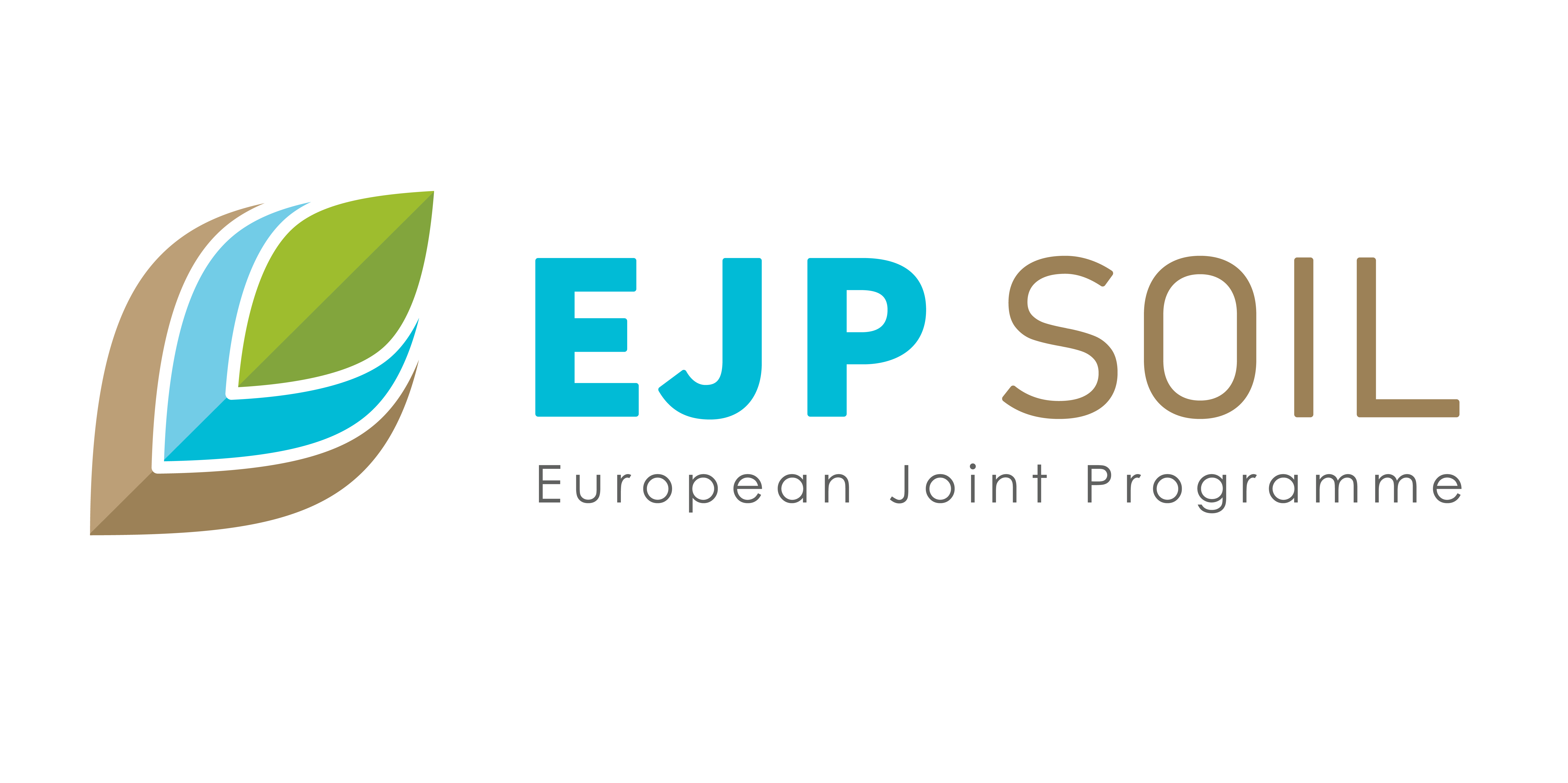 Logotyp for EJP Soil. Illustration.